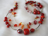 Necklace And Bracelet Jewelry Set With Corals 2