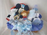 Welcome Baby Gift Basket Blue Mickey Mouse