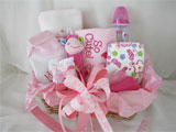 Welcome Baby Gift Basket Pink Pussycat