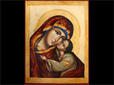 Icon Of The Virgin Tenderness With Carving