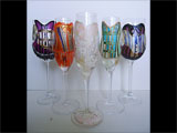 Hand Painted Bachelorette Party Glasses