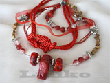 Necklace And Bracelet Jewelry Set With Corals