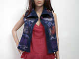 Nuno Felted Silk VEST Top BLUE