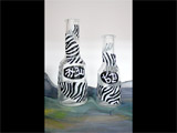 Hand Painted Hand Painted Set of Yuzcheta Zebra
